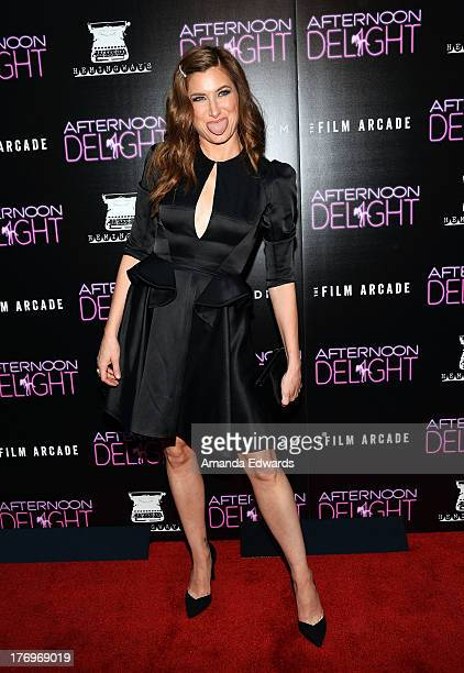 Actress Kathryn Hahn arrives at the Los Angeles premiere of 'Afternoon Delight' at ArcLight Hollywood on August 19 2013 in Hollywood California