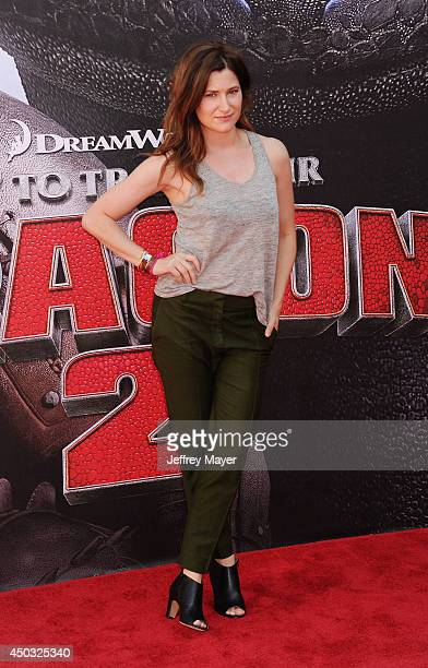 Actress Kathryn Hahn arrives at the Los Angeles premiere of 'How To Train Your Dragon 2' at the Regency Village Theatre on June 8 2014 in Westwood...