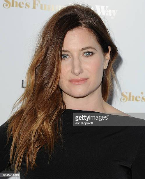 Actress Kathryn Hahn arrives at the Los Angeles Premiere 'She's Funny That Way' at Harmony Gold on August 19 2015 in Los Angeles California