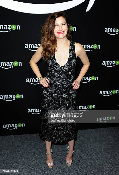 Actress Kathryn Hahn attends Amazon Studios Golden Globe Awards Party at The Beverly Hilton Hotel on January 10 2016 in Beverly Hills California