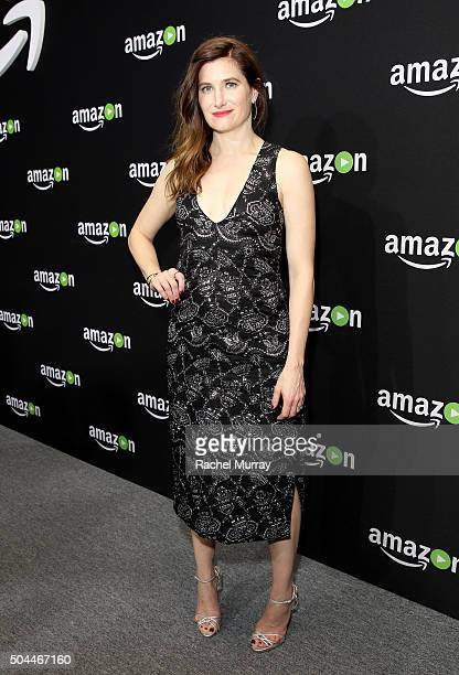 Actress Kathryn Hahn attends Amazon's Golden Globe Awards Celebration at The Beverly Hilton Hotel on January 10 2016 in Beverly Hills California