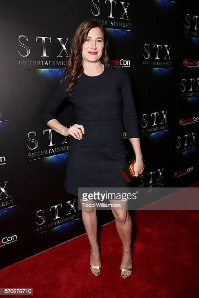 Actress Kathryn Hahn attends CinemaCon 2016 The State of the Industry Past Present and Future and STX Entertainment Presentation at The Colosseum at...
