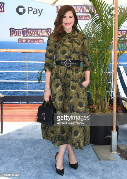 Actress Kathryn Hahn attends Columbia Pictures and Sony Pictures Animation's World Premiere of 'Hotel Transylvania 3 Summer Vacation' at Regency...