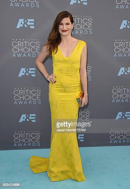 Actress Kathryn Hahn attends the 21st Annual Critics' Choice Awards at Barker Hangar on January 17 2016 in Santa Monica California