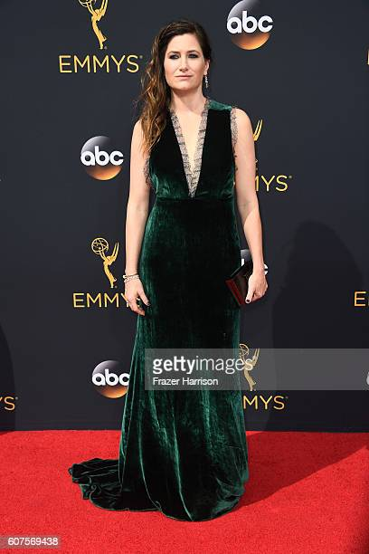 Actress Kathryn Hahn attends the 68th Annual Primetime Emmy Awards at Microsoft Theater on September 18 2016 in Los Angeles California