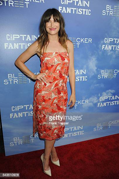 Actress Kathryn Hahn attends the premiere of Bleecker Street Media's Captain Fantastic held at the Harmony Gold Theater on June 28 2016 in Hollywood...