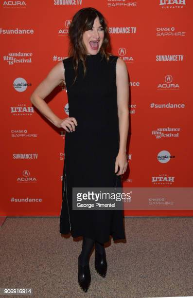 Actress Kathryn Hahn attends the 'Private Life' Premiere during the 2018 Sundance Film Festival at Eccles Center Theatre on January 18 2018 in Park...