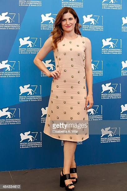 Actress Kathryn Hahn attends the 'She's Funny That Way' Photocall during the 71st Venice Film Festival on August 29 2014 in Venice Italy