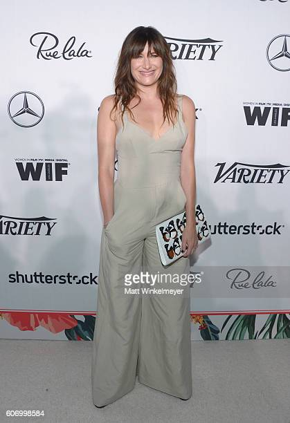 Actress Kathryn Hahn attends Variety and Women in Film's PreEmmy Celebration at Gracias Madre on September 16 2016 in West Hollywood California