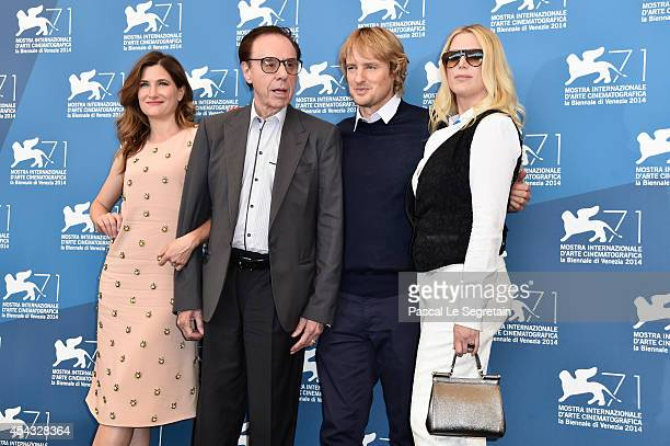 Actress Kathryn Hahn director Peter Bogdanovich actor Owen Wilson and screenplay Louise Stratten attend the 'She's Funny That Way' Photocal during...