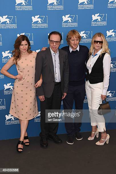 Actress Kathryn Hahn director Peter Bogdanovich wearing a JaegerLeCoultre Master Hometime Aston Martin watch actor Owen Wilson and and producer...