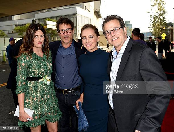 Actress Kathryn Hahn director Steven Brill author Ruthanna Hopper and comedian Allen Covert attend the premiere of Netflix's 'The Do Over' at Regal...