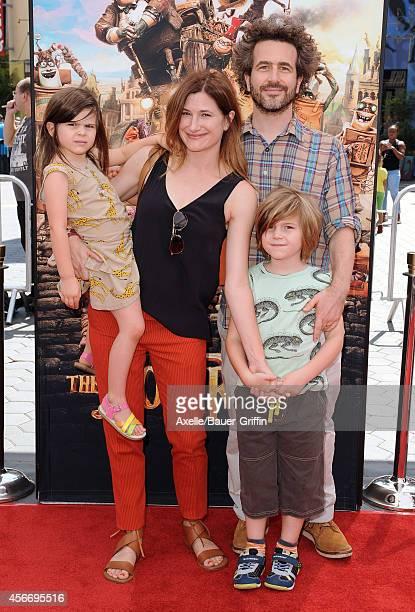 Actress Kathryn Hahn husband Ethan Sandler daughter Mae Sandler and son Leonard Sandler attend the premiere of 'The Boxtrolls' at Universal CityWalk...