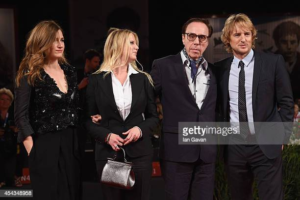 Actress Kathryn Hahn producer Louise Stratten director Peter Bogdanovich wearing a JaegerLeCoultre watch and actor Owen Wilson attend the 'She's...
