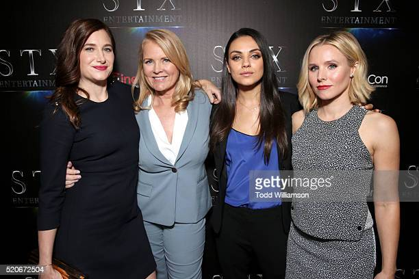Actress Kathryn Hahn producer Suzanne Todd actors Mila Kunis and Kristen Bell attend CinemaCon 2016 The State of the Industry Past Present and Future...