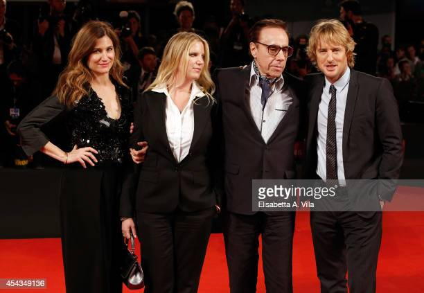 Actress Kathryn Hahn screenplay Louise Stratten director Peter Bogdanovich and actor Owen Wilson attend the 'She's Funny That Way' Premiere during...