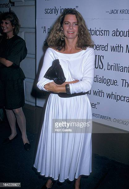 Actress Kathryn Harrold attends a performance of the Broadway play SpeedthePlow on August 3 1988 at the Royale Theatre in New York City