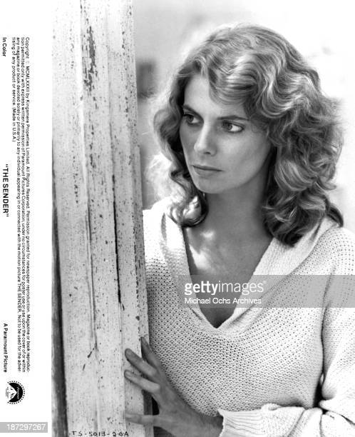 Actress Kathryn Harrold on set of the Paramount Pictures movie The Sender in 1982