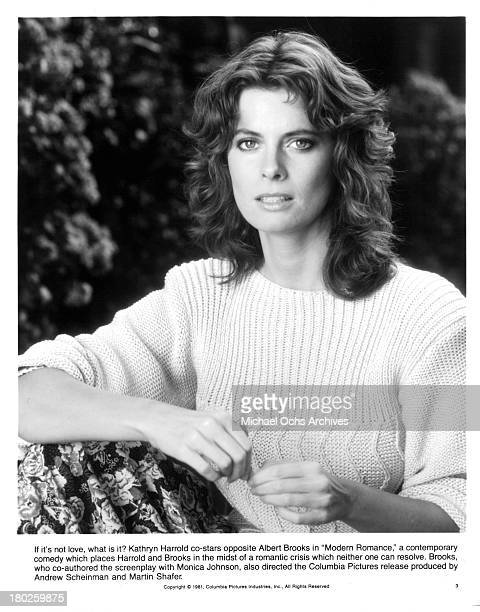 Actress Kathryn Harrold pose for the Columbia Picture movie Modern Romance in 1981