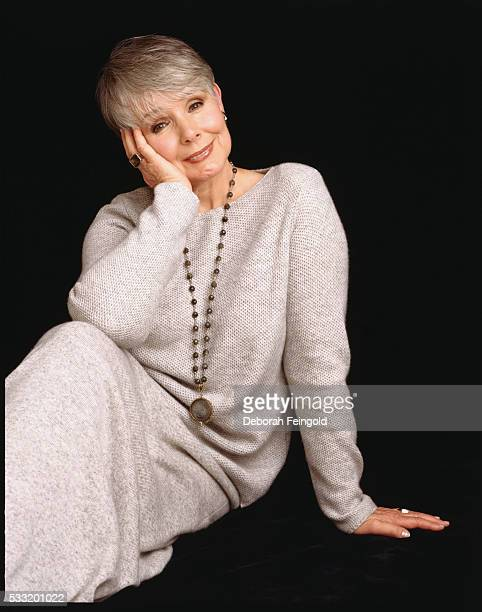 Actress Kathryn Hays Wearing a Long Sleeved Dress