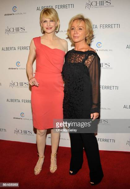 Actress Kathryn Morris and designer Alberta Ferretti attend the CHIPS 2009 luncheon and fashion show honoring Alberta Ferretti at the Montage Beverly...