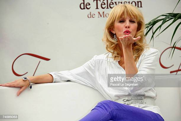 Actress Kathryn Morris attends a photocall promoting the television serie 'Cold Case' on the third day of the 2007 Monte Carlo Television Festival...