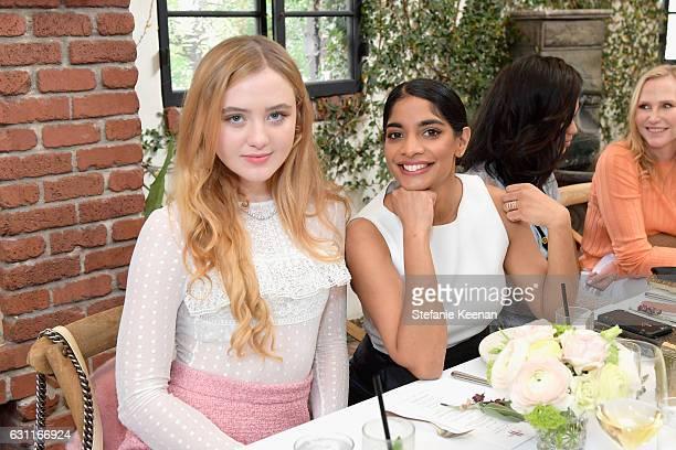 Actress Kathryn Newton and Amara Karan attend Lynn Hirschberg Celebrates W Magazine's It Girls with Stuart Weitzman at AOC on January 7 2017 in Los...