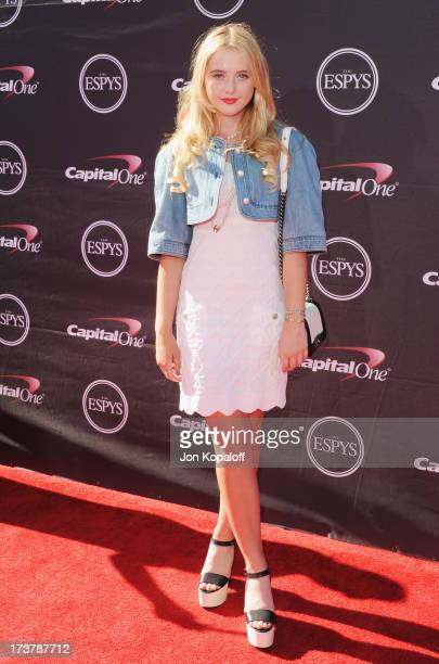 Actress Kathryn Newton arrives at The 2013 ESPY Awards at Nokia Theatre LA Live on July 17 2013 in Los Angeles California