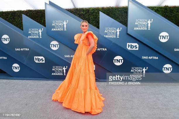 Actress Kathryn Newton arrives for the 26th Annual Screen Actors Guild Awards at the Shrine Auditorium in Los Angeles on January 19, 2020.