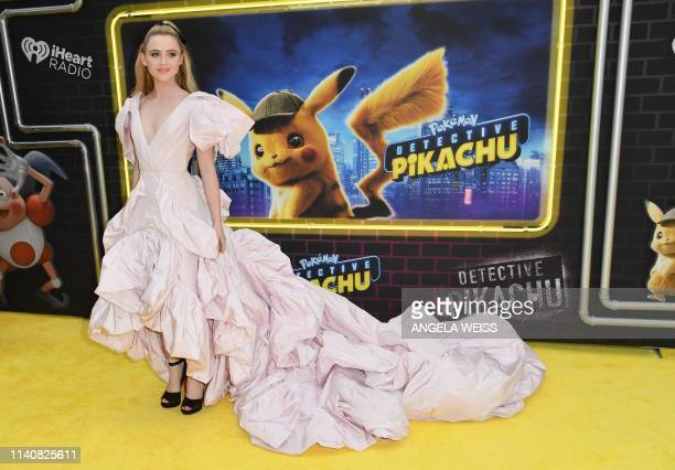 US actress Kathryn Newton attends the premiere of Pokemon Detective Pikachu at Military Island Times Square on May 02 2019 in New York City
