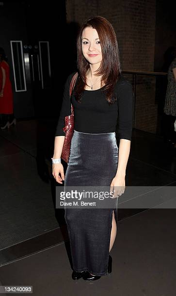 Actress Kathryn Prescott attends the Press Night performance of La Soiree Christmas At The Roundhouse a risque variety show featuring worldrenowned...