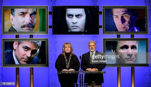 Actress Kathy Bates and Academy of Motion Picture Arts and Sciences President Sid Ganis announce the Best Performance by an Actor in a Leading Role...