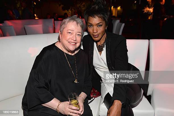 Actress Kathy Bates and Angela Bassett attend The Paley Center for Media's 2013 benefit gala honoring FX Networks with the Paley Prize for Innovation...