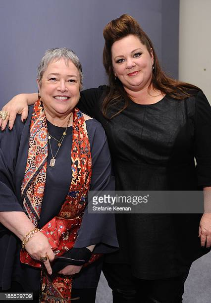 Actress Kathy Bates and honoree Melissa McCarthy attend ELLE's 20th Annual Women In Hollywood Celebration at Four Seasons Hotel Los Angeles at...