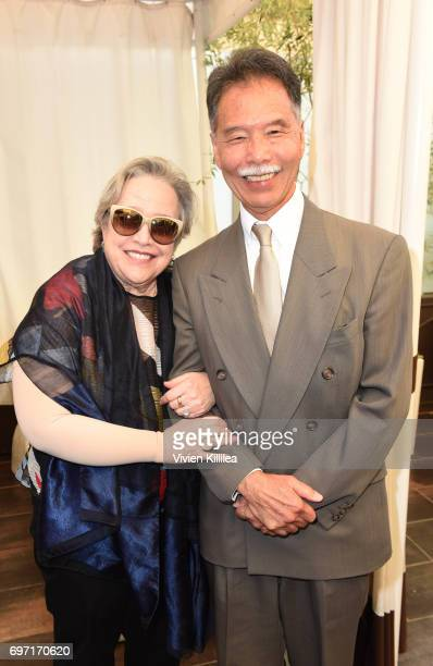 Actress Kathy Bates and Ken Fujimoto attend Academy Award Winner and LERN Spokesperson Kathy Bates Hosts Reception On The Eve Of The Third Annual...