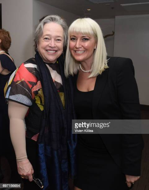 Actress Kathy Bates and Shan Lynn attend Academy Award Winner and LERN Spokesperson Kathy Bates Hosts Reception On The Eve Of The Third Annual...