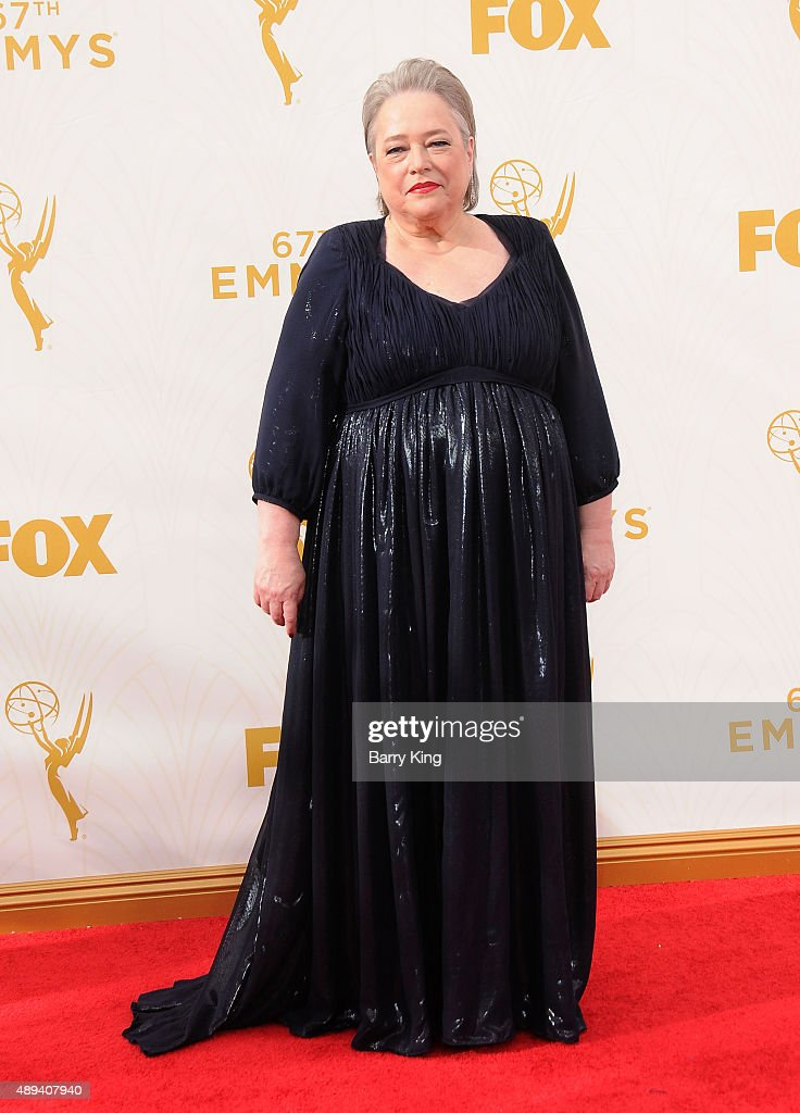 Actress Kathy Bates arrives at the 67th Annual Primetime Emmy Awards at the Microsoft Theater on September 20, 2015 in Los Angeles, California.