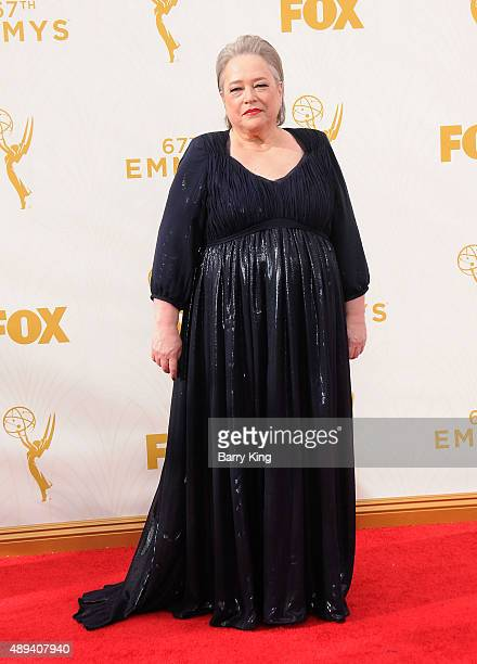 Actress Kathy Bates arrives at the 67th Annual Primetime Emmy Awards at the Microsoft Theater on September 20 2015 in Los Angeles California