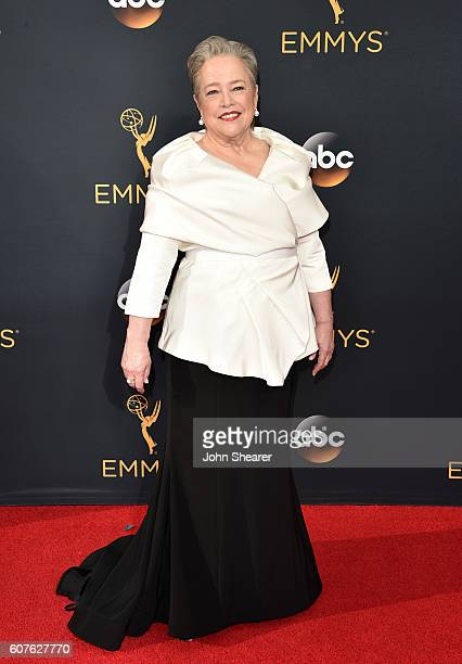 Actress Kathy Bates arrives at the 68th Annual Primetime Emmy Awards at Microsoft Theater on September 18 2016 in Los Angeles California