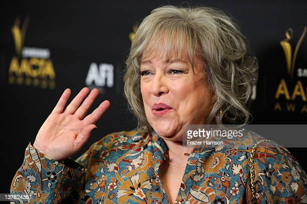 Actress Kathy Bates arrives at the Australian Academy Of Cinema And Television Arts' 1st Annual Awards at Soho House on January 27 2012 in West...