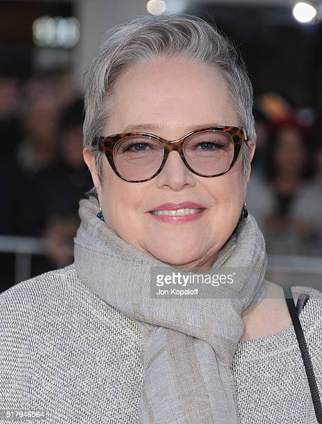 Actress Kathy Bates arrives at the Los Angeles Premiere The Boss at Regency Village Theatre on March 28 2016 in Westwood California