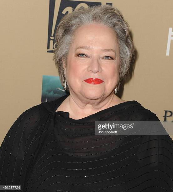 Actress Kathy Bates arrives at the Premiere Screening Of FX's 'American Horror Story Hotel' at Regal Cinemas LA Live on October 3 2015 in Los Angeles...