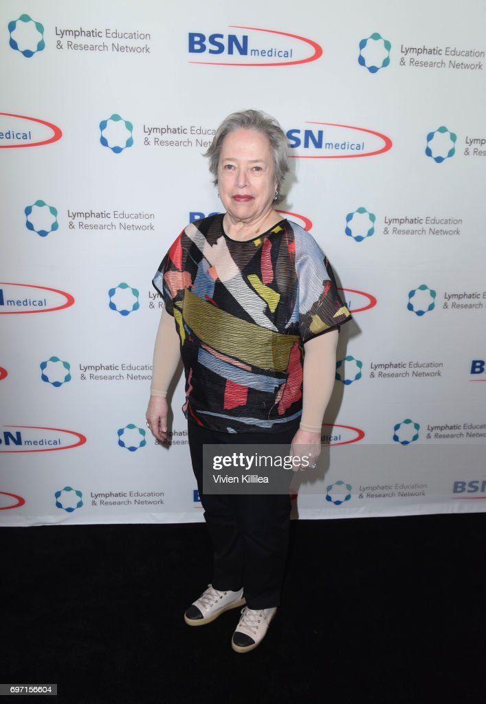 Actress Kathy Bates attends Academy Award Winner and LE&RN Spokesperson Kathy Bates Hosts Reception On The Eve Of The Third Annual California Run/Walk to Fight Lymphedema & Lymphatic Diseases at Huntley Hotel on June 17, 2017 in Santa Monica, California.