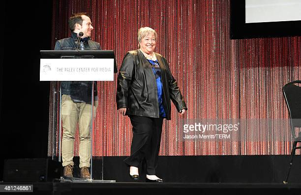Actress Kathy Bates attends the 2014 PaleyFest Closing Night Presentation 'American Horror Story' on March 28 2014 in Hollywood California