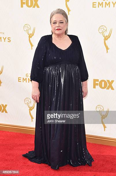 Actress Kathy Bates attends the 67th Annual Primetime Emmy Awards at Microsoft Theater on September 20 2015 in Los Angeles California
