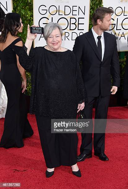 Actress Kathy Bates attends the 72nd Annual Golden Globe Awards at The Beverly Hilton Hotel on January 11 2015 in Beverly Hills California