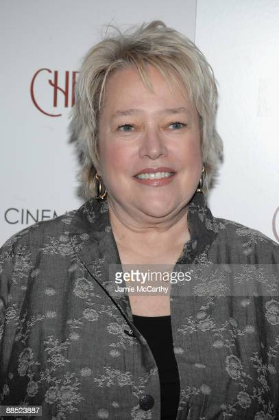Actress Kathy Bates attends the Cinema Society Noilly Prat screening Of Cheri at the Directors Guild of America Theater on June 16 2009 in New York...