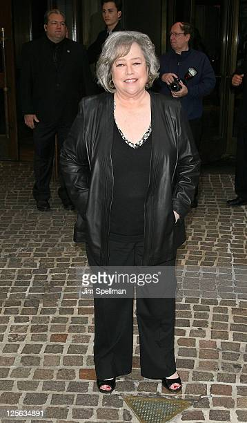 Actress Kathy Bates attends the Cinema Society Thierry Mugler screening of Midnight in Paris at the Tribeca Grand Screening Room on May 17 2011 in...