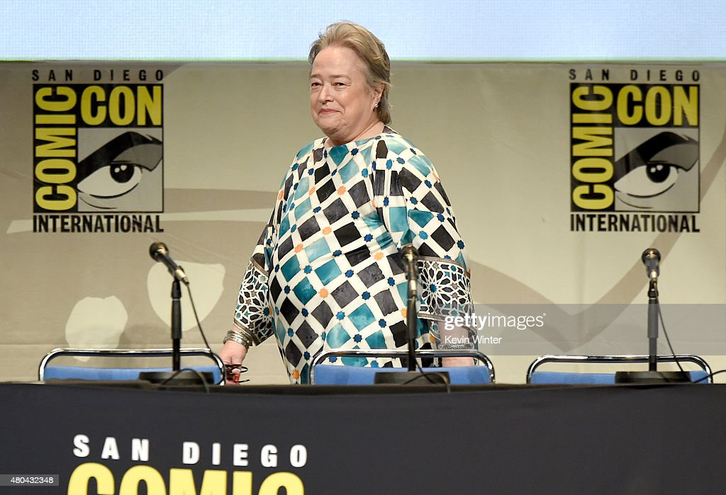 Actress Kathy Bates attends the Entertainment Weekly: Women Who Kick Ass panel during Comic-Con International 2015 at the San Diego Convention Center on July 11, 2015 in San Diego, California.