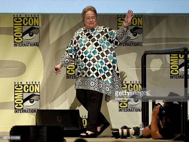 Actress Kathy Bates attends the Entertainment Weekly Women Who Kick Ass panel during ComicCon International 2015 at the San Diego Convention Center...